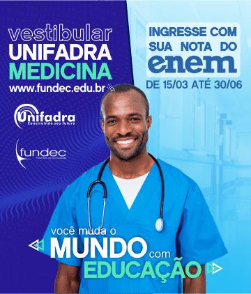 Unifadra - Vestibular de Inverno 2021 – Medicina