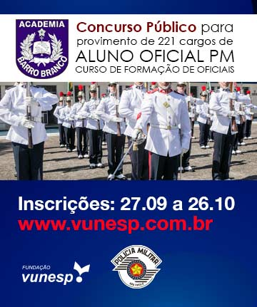 ALUNO OFICIAL PM - CURSO DE FORMAÇÃO DE OFICIAIS