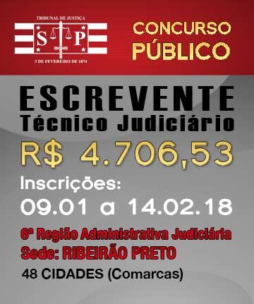 ESCREVENTE 6ª REGIÃO (SEDE: RIBEIRÃO PRETO)